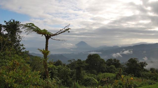 вулкан и озеро Ареналь